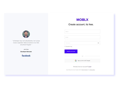Sign Up #96 ui ux minimal clean sign up