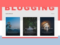 Blogging Topics UI