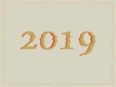 New Year 2019 illustration vector design shot