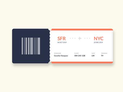 Flying Pass ticket design ticketing design challenge visual design