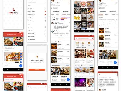 Food App Material UI Screens android material design app design visual design shot ui challenge