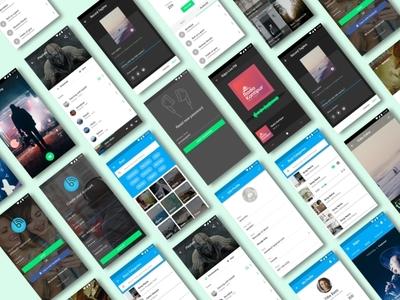 Music App Screens sketch file music app design visual design shot ui