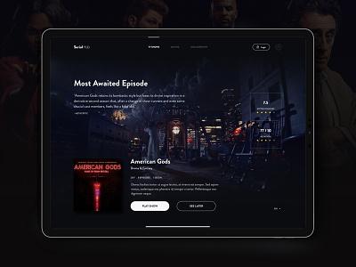 American Gods Series series app design visual design shot ui