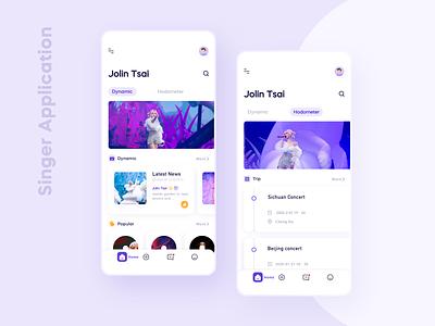 Singer App typography web minimal illustration ux vector app branding design