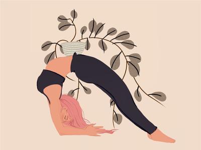 Yoga Studio Illustration yoga plant digital illustration digital painting procreate illustration