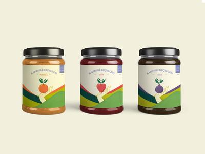 Kadineli Jams | Branding & Packaging mockup fig strawberry orange illustrative design jars jam packaging design packaging branding