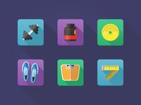 Fitness&Bodybuilding icons