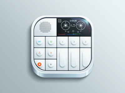OP-1 Synthesizer [Freebie] ios mobile sampler synthesizer icon reflection iphone controller skeuomorphism app audio freebie
