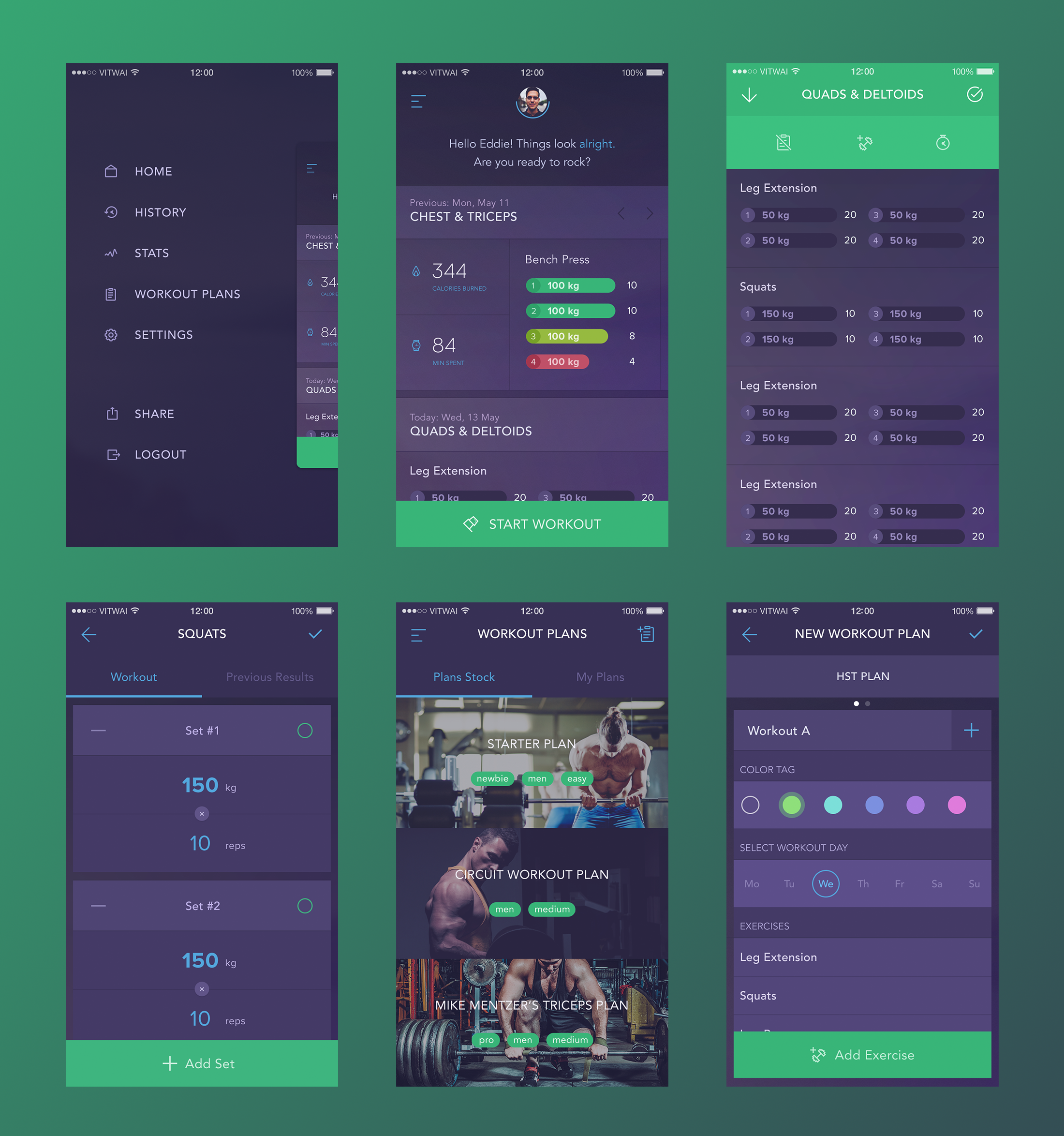 vitaly rubtsov projects workout book dribbble