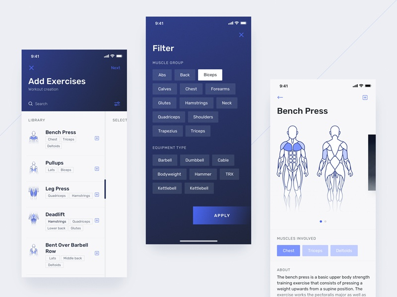 Create Workout Flow sport product design gym fitness workout tracker tracker workout mobile ux ui