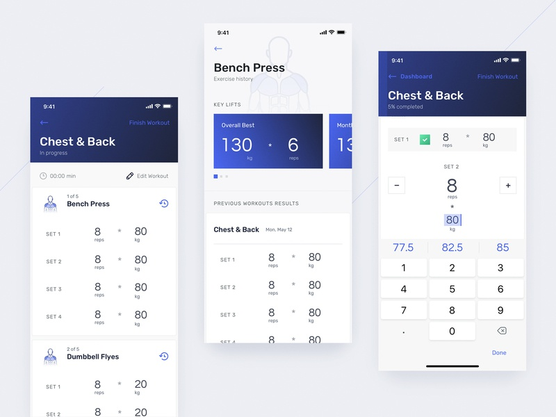 Kenko: Track Workout product design gym fitness workout tracker tracker workout mobile ux ui