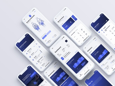 Kenko Workout App & UI Kit ui kit product design gym fitness workout tracker tracker workout mobile ux ui