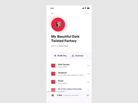 Add to Playlist animation interaction ios player music app ux ui