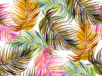 Tropic pattern simlles tropical pattern flover design illustration