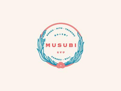 MUSUBI Modern Japanese Kitchen Logo icon restaurant branding restaurant logo restaurant logo design logo