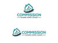 Commission Share Home Loans typography minimal logodesign logo design flat vector logo illustration design branding