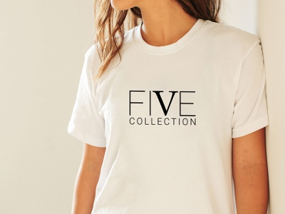 FIVE COLLECTION typography flat minimal logodesign logo design vector logo illustration design branding five collection five collection