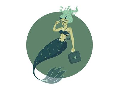 ♉️Taurus glasses digitalart illustration dribbble dribbble best shot dribbbleshot zodiaco mermaid mermay zodiacsigns zodiac taurus