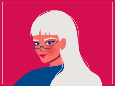 Girl with white hair