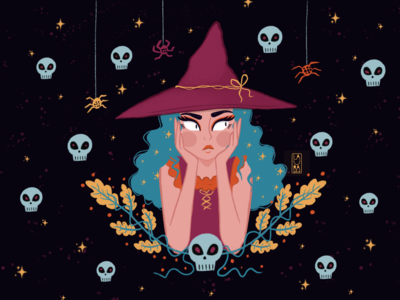 The witch with blue hair