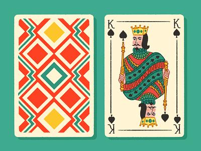 King of spades illustration deckofcards playingcards carddeck playingcard kingcard kingofspades king dribbblecommunity dribbbleweeklywarmup dribbble
