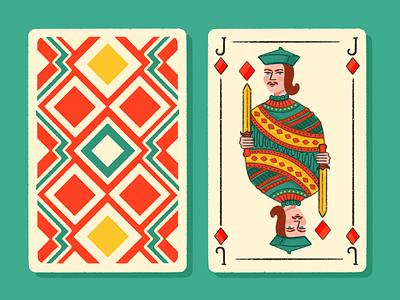 Jack of Diamonds design illustrator illustraion cards design jackofdiamonds dribbbleweeklywarmup dribbble deck of cards jack jackcard