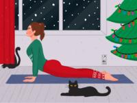 Yoga in winter