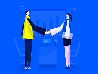 握手的人 illustration