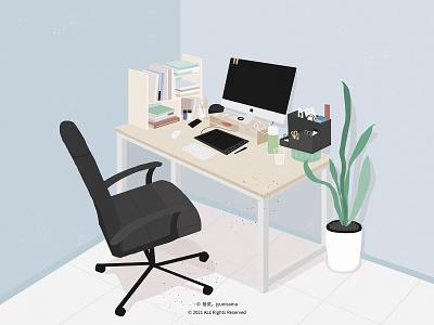 My desk illustration