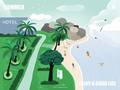 Summer_Enjoy a good life illustration