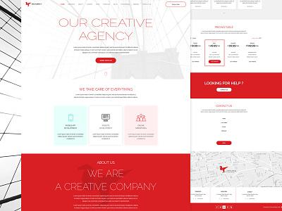Digitech - Responsive Minimal Multipurpose business template theme corporate website webdesign