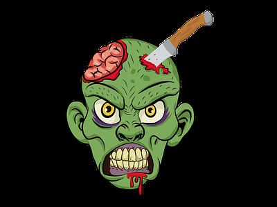 Oozer Halloween Vector skull  creepy illustrative zombie  monster illustration halloween comic death dead horror character brand  branding blood brain