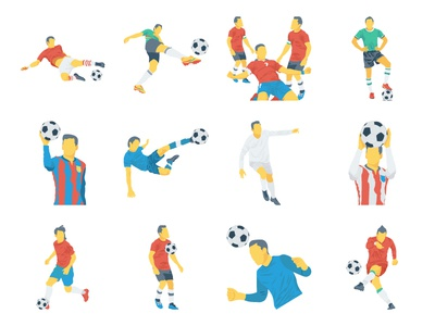 Fifa Football WorldCup Flat Icons Illustration worldcup fifa vlc goal stopwatch trophy team icon sport soccer player football ball