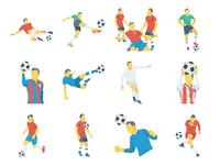 Fifa Football WorldCup Flat Icons Illustration