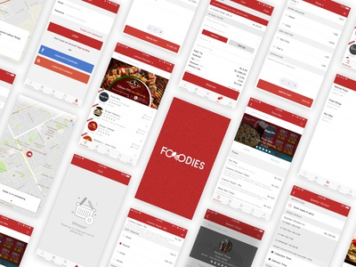 Foodies - Online Food Delivery (Android/iOS App) food delivery app food delivery app restaurant uidesign design ios android