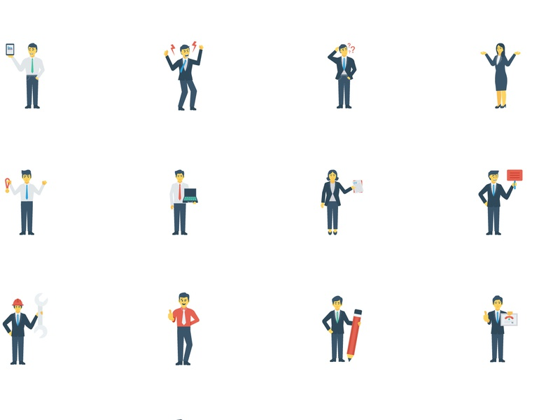 office characters icon flat office icons flaticons male female characters office
