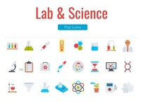 Lab and Science Flat Icons Pack