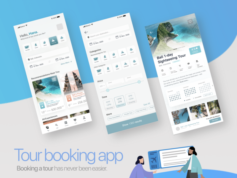 Tour booking app - UI/UX product design travel travel app booking app mobile app design uxdesign uidesign uiux