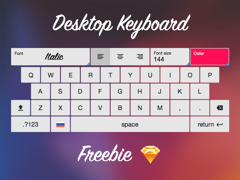 Keyboard Freebie keyboard freebie sketch keys touch desktop flat