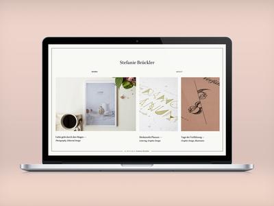 New Portfolio portfolio website pink grid responsive illustration white border