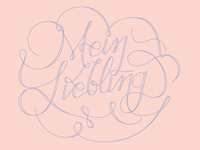 Lettering Collection 2014 swirly lettering typography letters swirls curly delicate pink blue hand typo