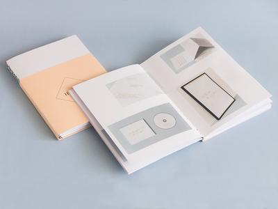 Portfolio Booklet portfolio booklet white salmon blue self-promotion print