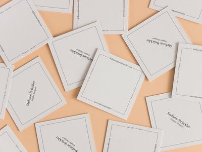 Business Cards portfolio business cards white salmon self-promotion print