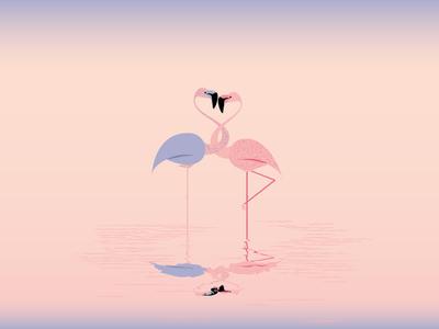 Flamingo birds flamingo illustration print book binding editorial design degree project paradise peach bachelor thesis