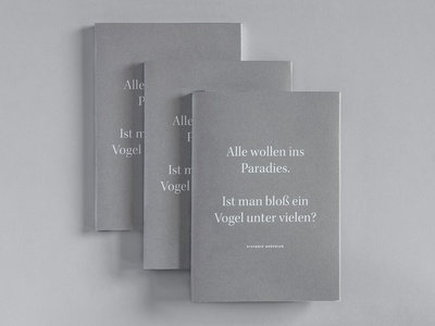 Bachelor's Thesis  illustration print book binding editorial design degree project paradise minimal book white grey bachelor thesis