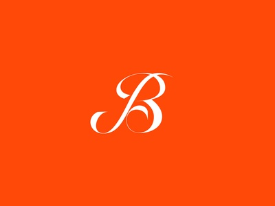 B Lettering letter b white red delicate curly swirls letters typography lettering