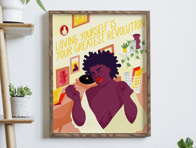 Loving yourself is your greatest revolution body positivity body positive body liberation selflove self acceptance feminism equality illustration