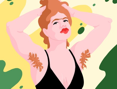 Hair - Art print identity armpit hair armpit hair women self acceptance feminism equality illustration