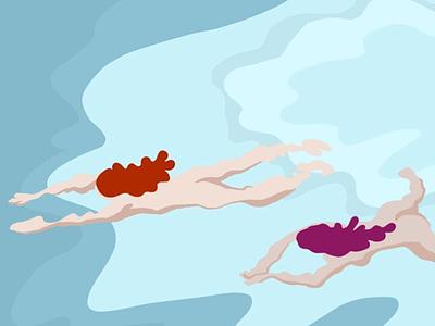 Summer Swim illustration everyday illustration swimming summer