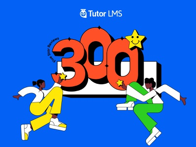 300 Five Star Reviews!! reviews 5star celebration lms wordpess branding ui logo ad graphic design flat vector illustration design art